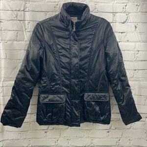 Fish's tribe black zip up puffer jacket